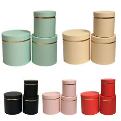 3pcs Cookie Candy Box Gift Packing Round Boxes Flower Cylinder Wedding Party