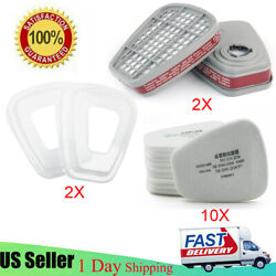 10x5n11 Cotton Filter+2x6001cn Filter Cartridge +2x 501 Cover For 6200 6800 7502