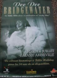 Dee Dee Bridgewater - Hommage A Billie Holiday - 80x120cm - Rare Poster Rolled