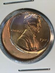 1989 P Lincoln Penny Red Off Center Us Coin N-2013