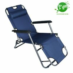 Folding Outdoor Lounge Chair Beach Sun Patio Chaise Pool Lawn Lounger 1 Pack