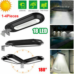 Outdoor Commercial 18 Led Solar Street Lights Ip55 Waterproof Dusk To Dawn Lamps