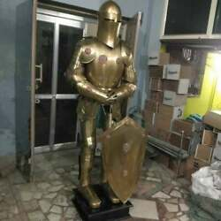 Medieval Costume Full Body Suit With Close Helmet Knight Spartan Suit Of Armor