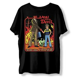 Deal With The Devil Lets Summon Demon Funny Vintage Gift Shirt T210423s050 Ta12