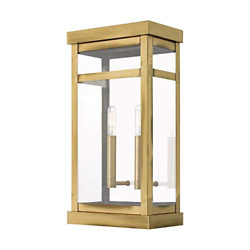 Livex 20704-01 Transitional Two Light Outdoor Wall Lantern From Hopewell Finish,