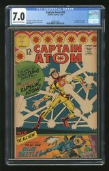 Captain Atom 83 Cgc 7.0 1966 0288315005 1st App. Ted Kord Second Blue Beetle