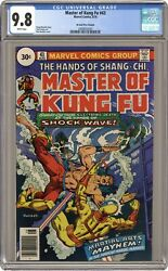 Master Of Kung Fu 30 Cent Variant 43 Cgc 9.8 1976 2068832020