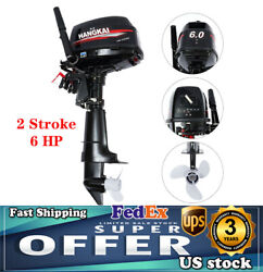 Hangkai 2-stroke 6 Hp Boat Outboard Motor Engine Cdi Water-cooled System Marine