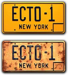 Celebrity Machines Ghostbusters Afterlife | Ecto-1 | Metal Stamped License