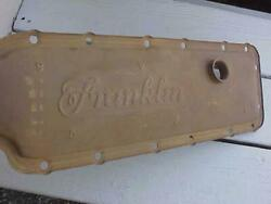 Old Franklin Air Cooled Bell Helicopter Engine Crankcase Cover Embossed Logo