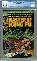Special Marvel Edition 15 Cgc 8.5 1973 2043303003 1st App. Shang Chi
