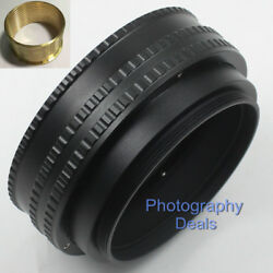 Brass M65 To M65 Mount 17mm-31mm Adjustable Focusing Helicoid Adapter Macro Tube