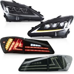 For Lexus Is 2006-2015 Special Offer Smoke Taillights+clear Reflector Headlights
