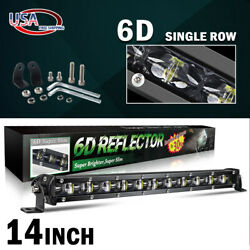 14inch Led Light Bar 1680w Flood Spot Offroad 13'' Driving For Jeep 4wd Rzr Atv