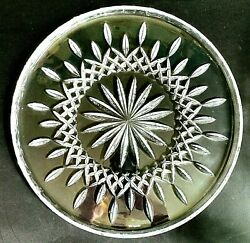 1 One Waterford Lismore Cut Lead Crystal 12.5 Cake Plate - Signed