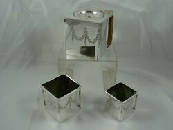 Extremely Rare `the Cube` Silver Plated Tea Set C1900