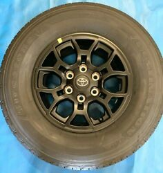 2021 Toyota Tacoma 16 Oe Wheels And Tires 4 Oem Black Rims And Oe Tires