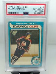 1979-80 O-pee-chee Wayne Gretzky Rookie 18 Psa Authentic Altered