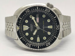 Pre Owned Seiko Diver Automatic Watch 6309-7040 Suwa Dial Turtle Sn.174112