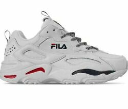 Fila Ray Tracer Mens White Navy Red 0661-125 Athletic Sneaker Shoes