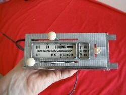 Nos 1958 Ford Ac Dash Temperature Control Assembly With Fan Switch With Cable 58