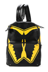 Valentino Mens Leather And039super-hand039 Batman Backpack Srtsty14 Black Yellow