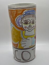 Very Rare Large Original Desimone Vase, Signed And Numbered, Made In Italy