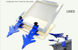 Used 1pc Desktoptype Simple Press Machine Screen Printing Clamp Butterfly Clamp