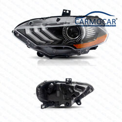New Pair Right And Left Side Led Headlights Fits 18-19 Ford Mustang Dual Beam Drl