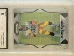 2017 Prizm Football Silver Prizm 225 James Conner Rc Rookie Pittsburgh Steelers