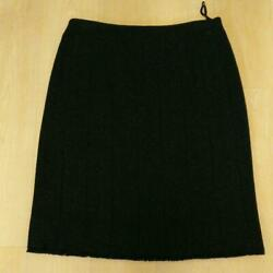 Authentic Skirt Small 40 Lame In Black To Graduate From Admission No.5339