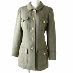 Previously Owned 96a P08302 With Coco Mark Button Wool 100 Women No.6752