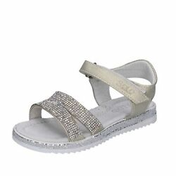 Shoes Girls Solo Soprani Sandals Gold Synthetic Leather Strass Bh184