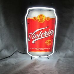 Victoria Beer Of Mexico Neon Lit Bar Sign New In Box Made In Usa