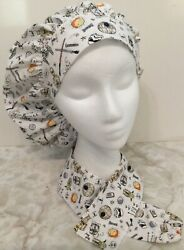 Star Wars Print Size Large Bouffant Scrub Cap Surgery Hat And Stethoscope Cover