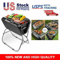 Portable Folding Barbecue Grill Charcoal Stainless Steel Outdoor Cooking Grills