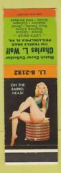 Matchbook Cover - Charles Wolf Match Collector Philadelphia Pa Pinup
