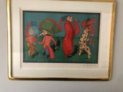 Chemiakin Lithograph Carnival Series Entitled Carnival At St. Petersburg 107/3