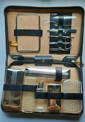 Vintage Colton-lewis Leather Menand039s Grooming Kit
