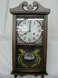 Sehwa 31 Day Pendulum Wall / Mantel Strike Clock Made In China Vintage Timepiece