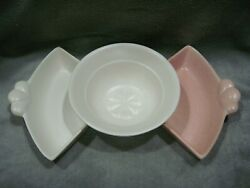 Vintage 1950s Replacement Relish Trays / Bowl For California Pottery Lazy Susan