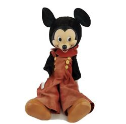 Antique 1940's Disney Gund Mickey Mouse Doll Large