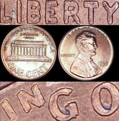 1995 Fs-101 Ddo Lincoln Cent 🎇gem Unc Error Coin 🎇 Doubled Die Penny P Double