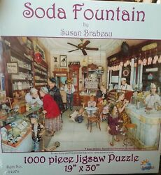 Susan Brabeau Soda Fountain Piece Puzzle 1000 Pc By Sunsout New Free Shipping