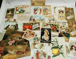 Antique Lot Victorian Advertising Trade Card Spices Extract Grocery Food Vinegar