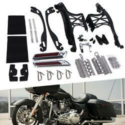 One Touch Opening Saddlebag Latch Lids Hardware Kit For Harley Touring 2014-2021