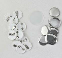 300pcs Blank Badge Parts Supplies Pin Materials For Button Maker Machine Diy New
