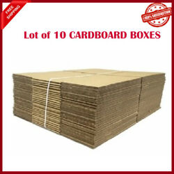 Lot Of 10 Cardboard Boxes Corrugated Shipping Moving Packing Supplies 25x8x4