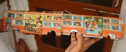 India - Tin Toy Japan Bus 2 Parts 1 Part Has 3 Tyre With Stand 20.1/2 X 3