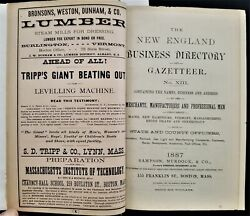 1887 Antique New England 1,932 Pg Business Directory W Tons Of Ads